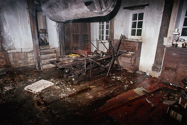 Dado's bedroom after the fire in 1988
