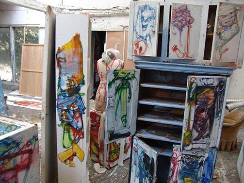Dado's studio in February 2009