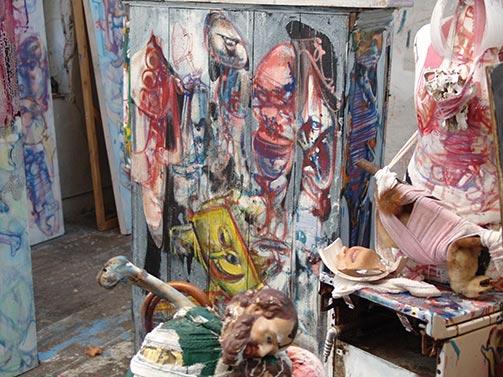Dado's studio in March 2009