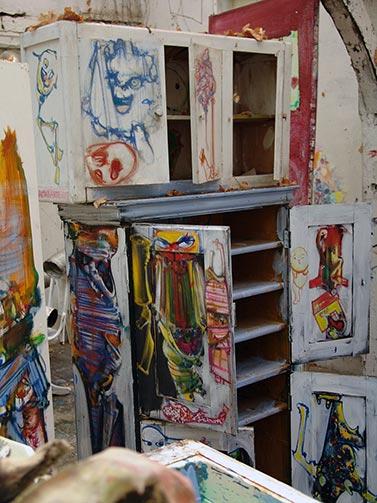 Dado's studio in April 2009