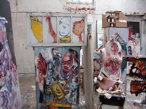 Dado's studio in July 2009