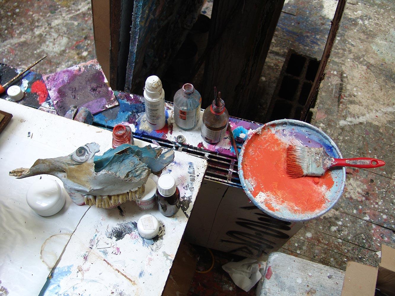 Dado's studio in 2009