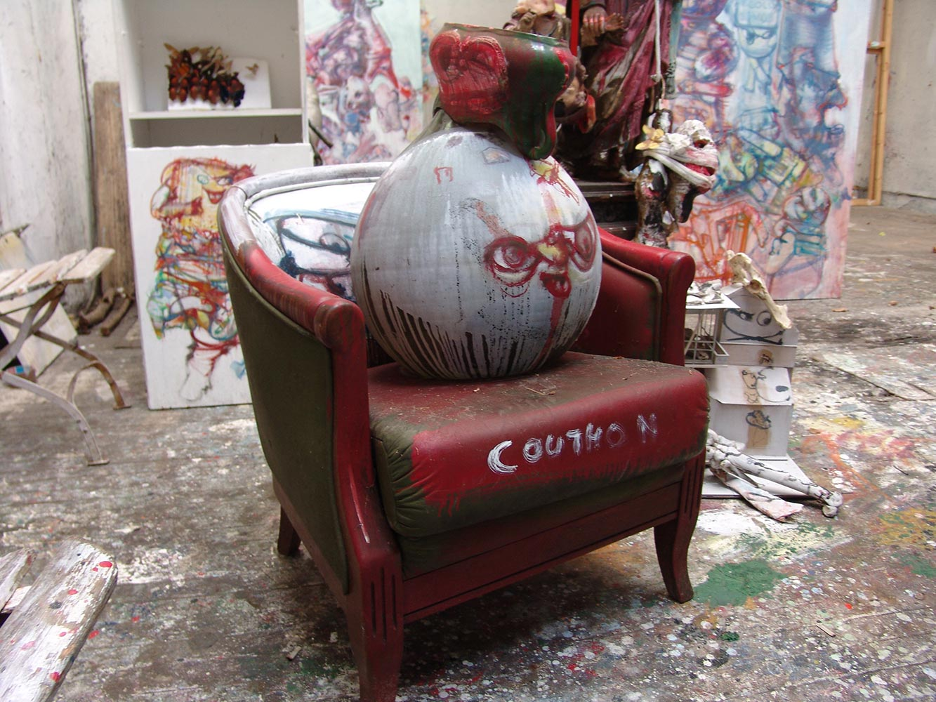 Sculpture at Dado's studio in 2009