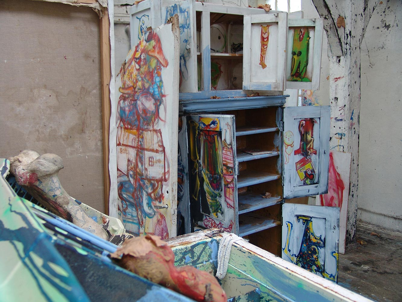 Dado's studio in 2009