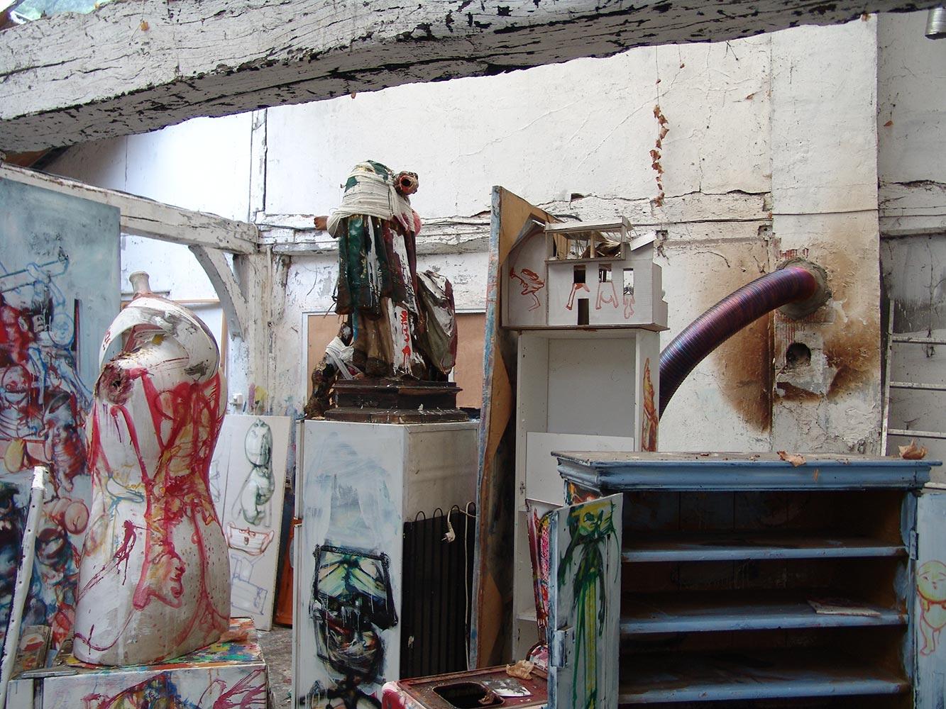 Dado's studio in 2010