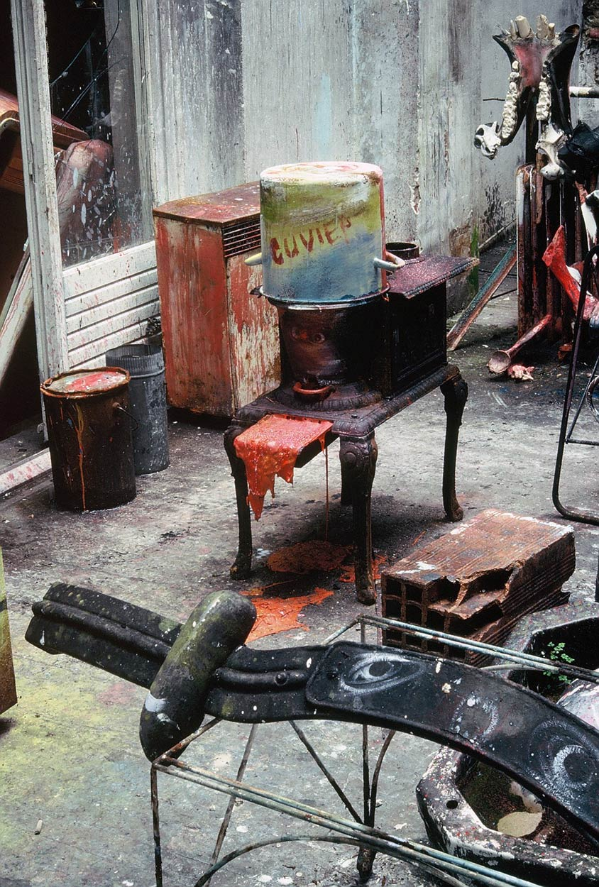 Sculptures at Dado's studio in 1989