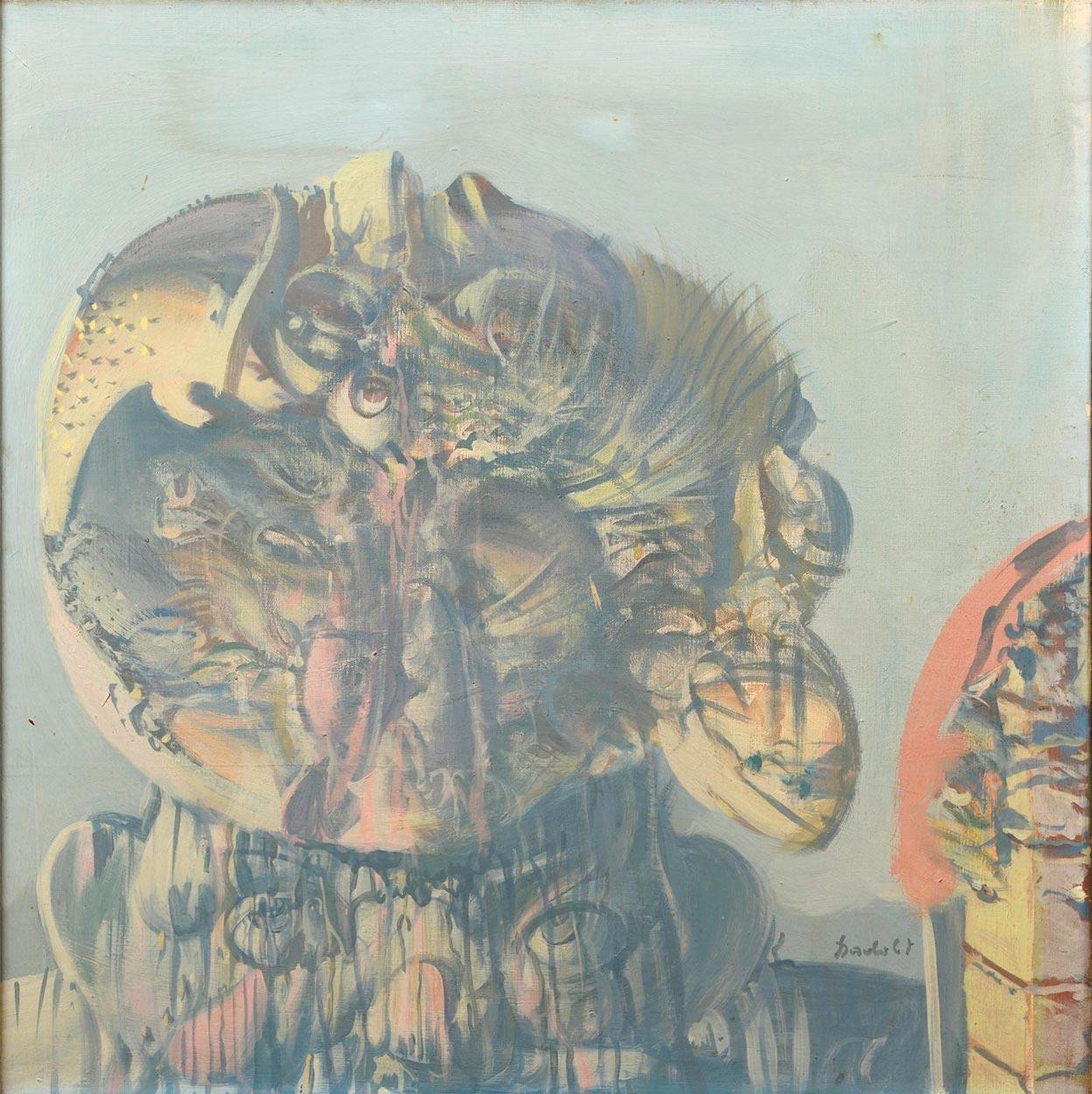 Dado's painting: The Gallery of Ancestors XXII, 1969