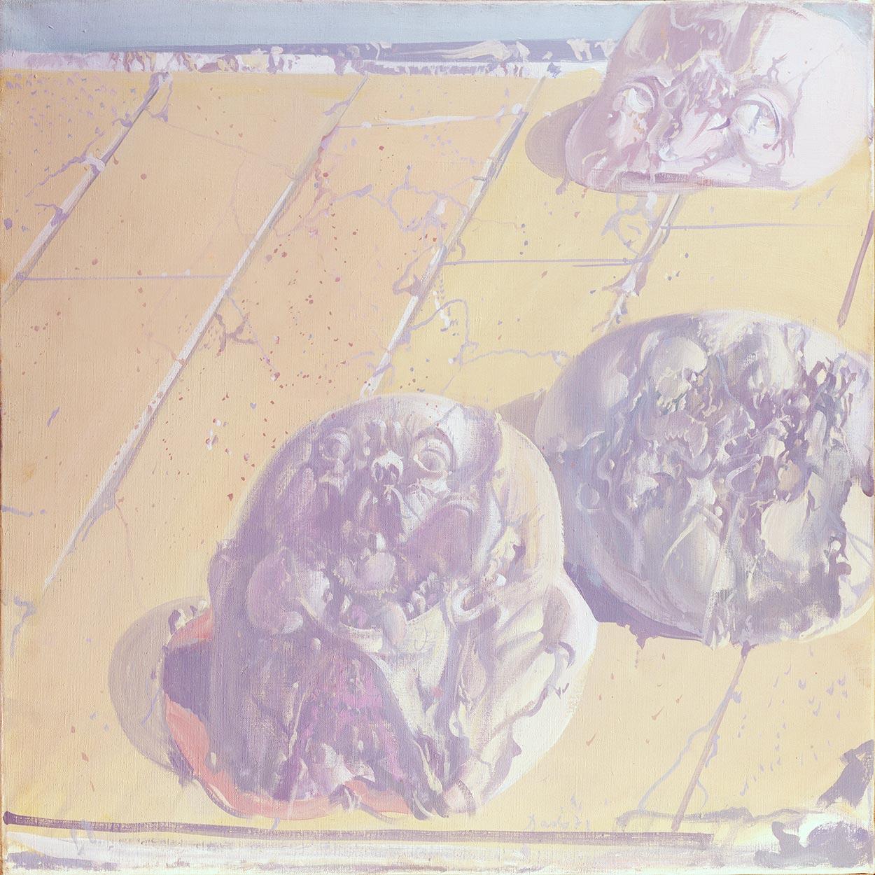 Dado's painting: The Gallery of Ancestors XXIII, 1971