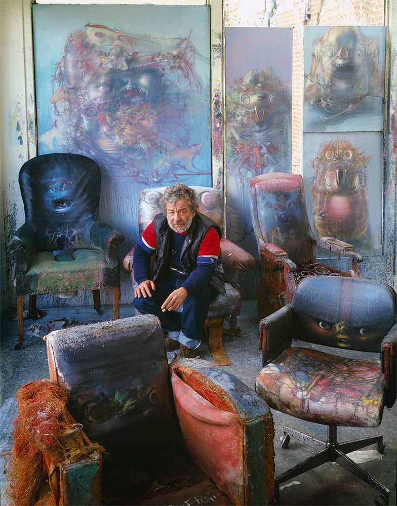 Dado in his workshop in about 1987