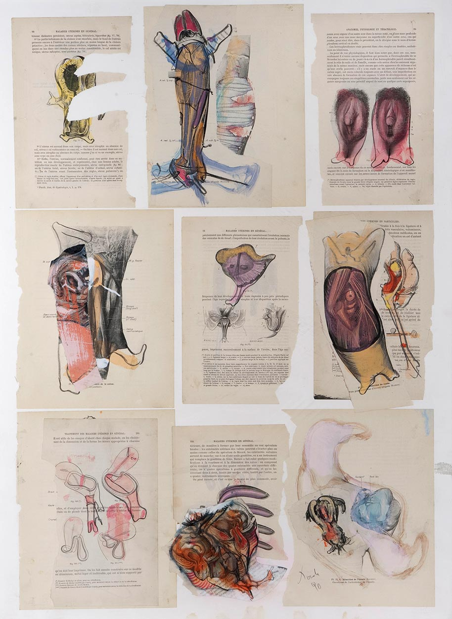 Collage de Dado :Anatomie, 1990