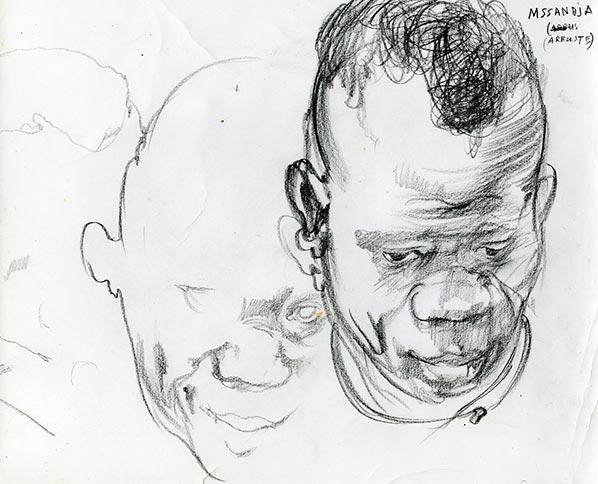 Drawing among the Pygmies, 1974