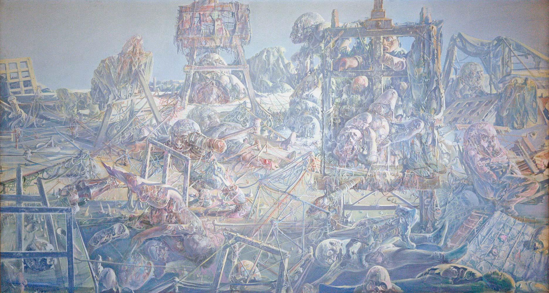 Dado's painting: The Studio, 1972
