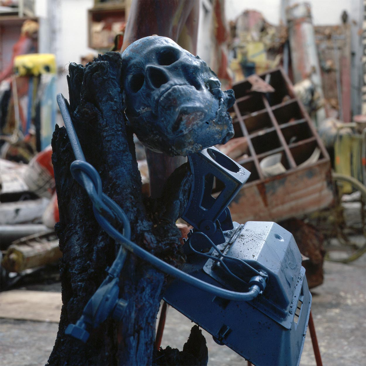 Sculptures at Dado's studio in 1996