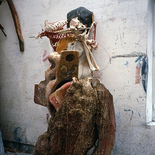 Sculptures at Dado's studio in 1996