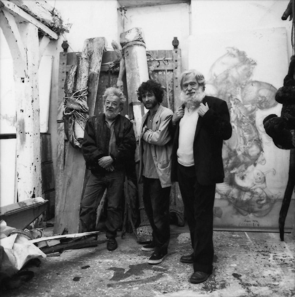 Dado, Alain Controu and Claude Louis-Combet