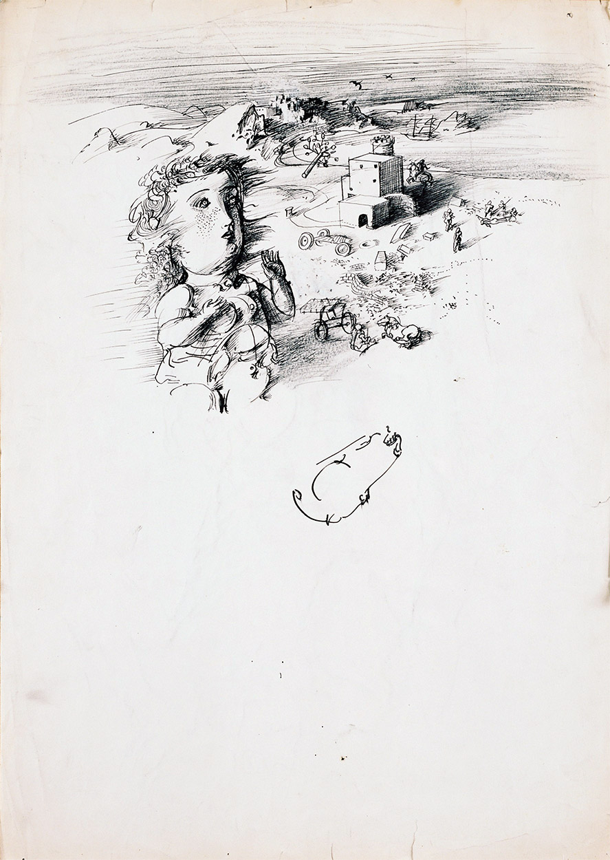 Dado's drawing: Untitled, circa 1956