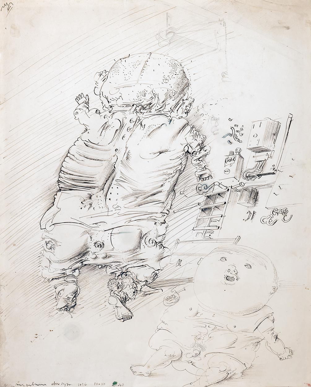 Dado's drawing: Babies, 1956