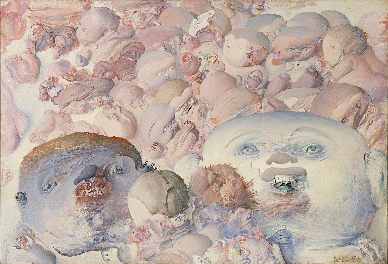 Dado's painting: Untitled, 1957