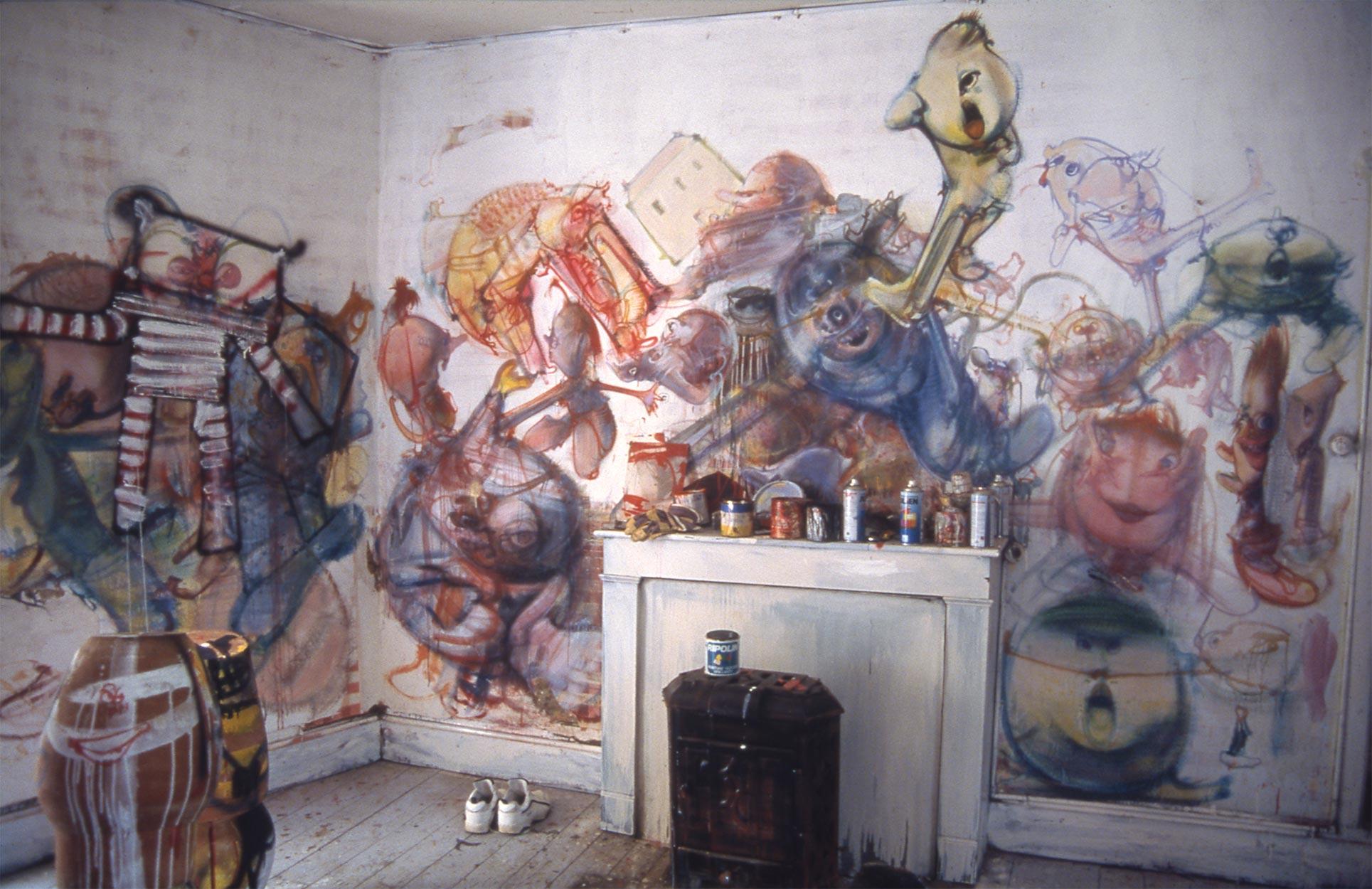 Murals at Bez-de-Naussac