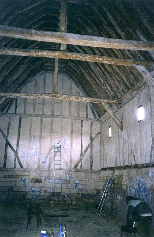 Dadov početak zidnog slikarstva u Kapeli Svetog Luke
