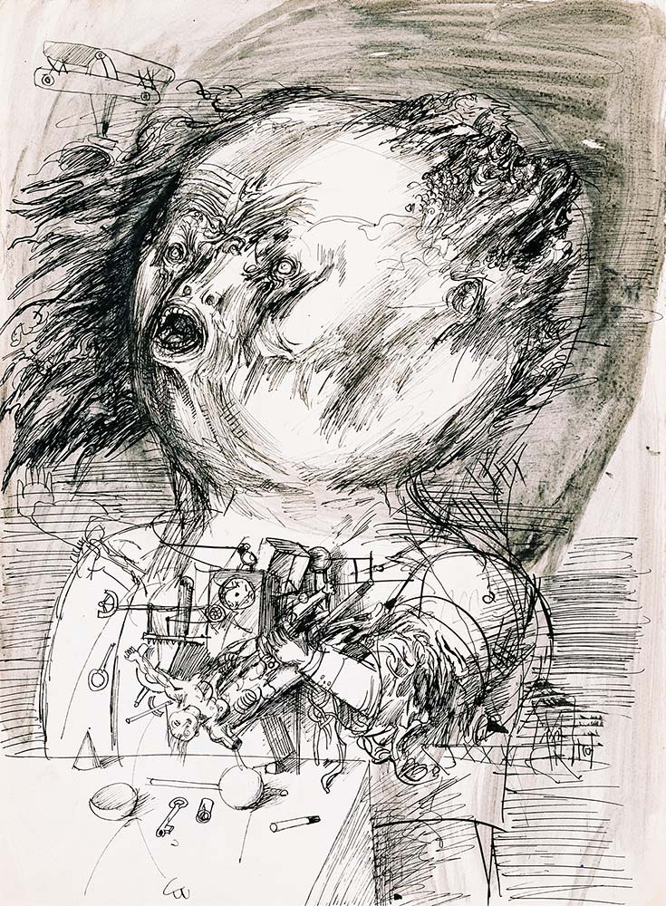 Dado's drawing: Cugo, 1955