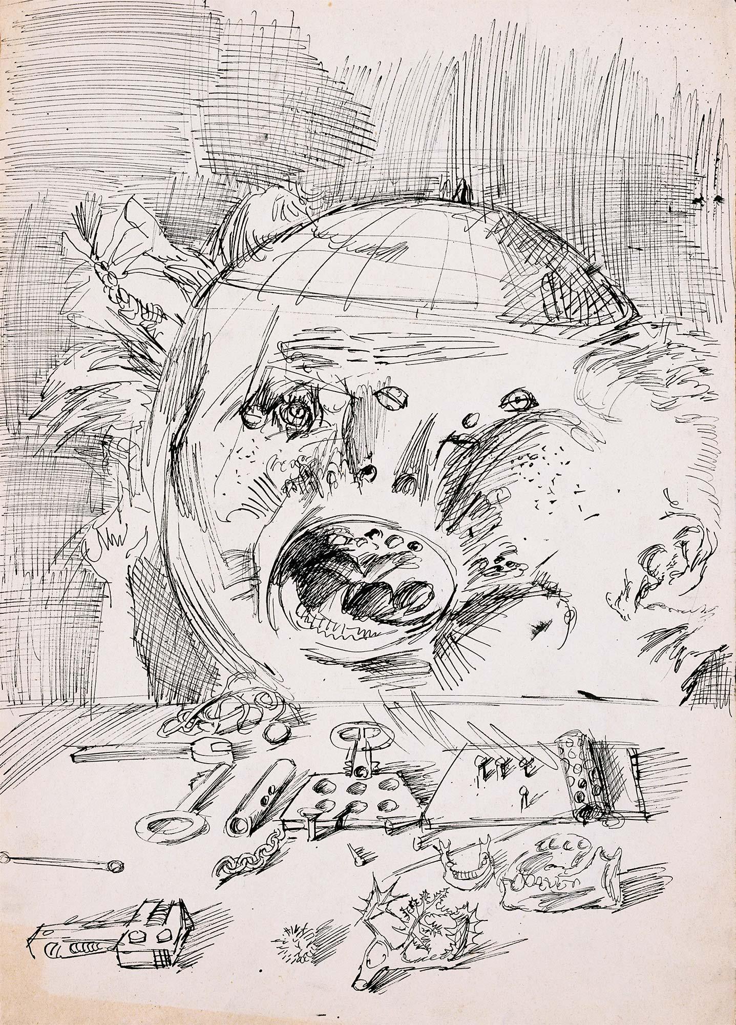 Dado's drawing: Cugo, 1955