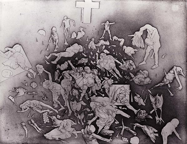 Print by Dado: The Pigeons