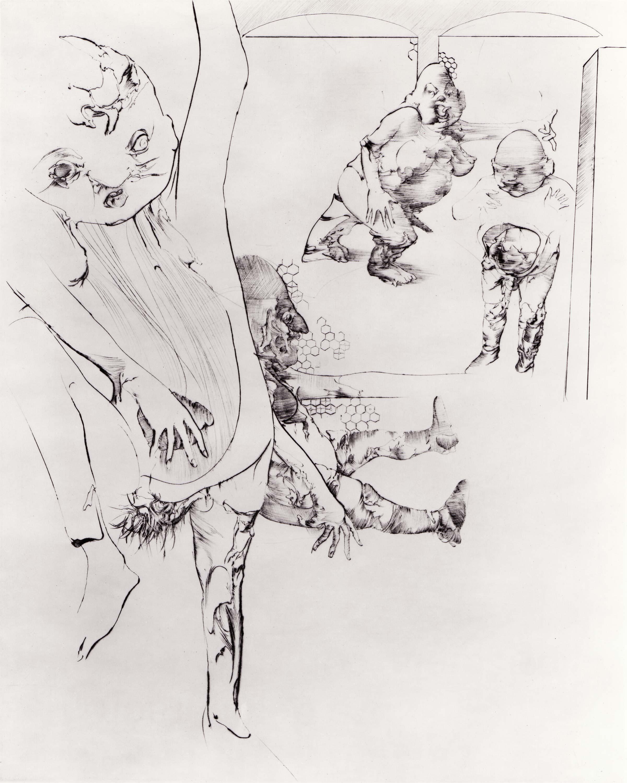 Print by Dado: Rhinoceros I