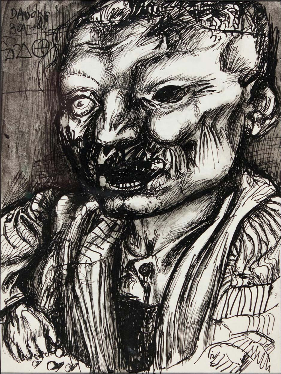 Dado's drawing: Male Portrait, 1956