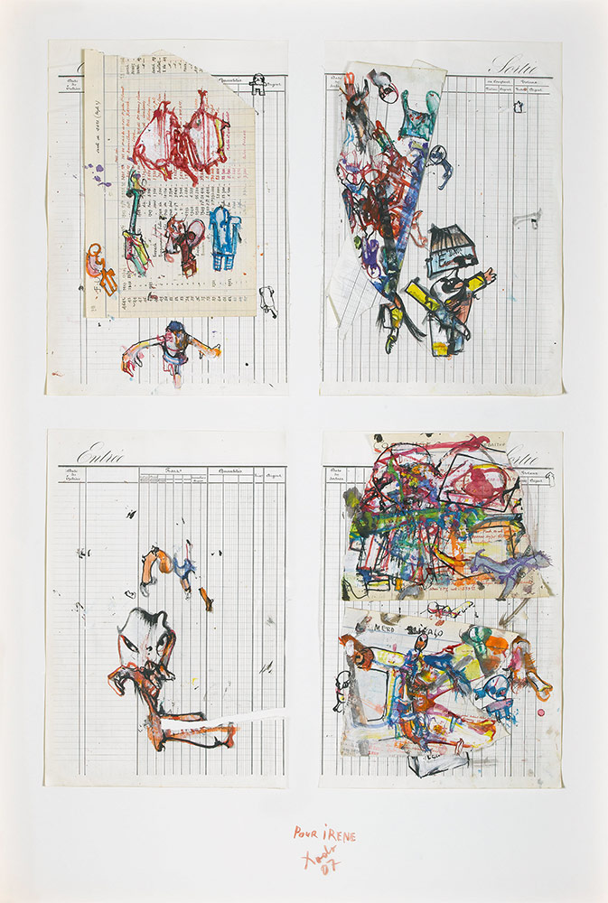 Kolaž, kolekcija Muzeja umjetnosti i jevrejske istorije, Pariz