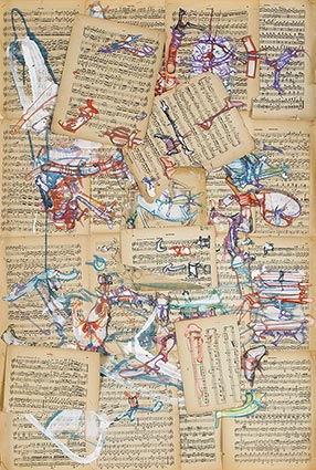Kolaži, 2007. Kolekcija Muzeja umjetnosti i jevrejske istorije.