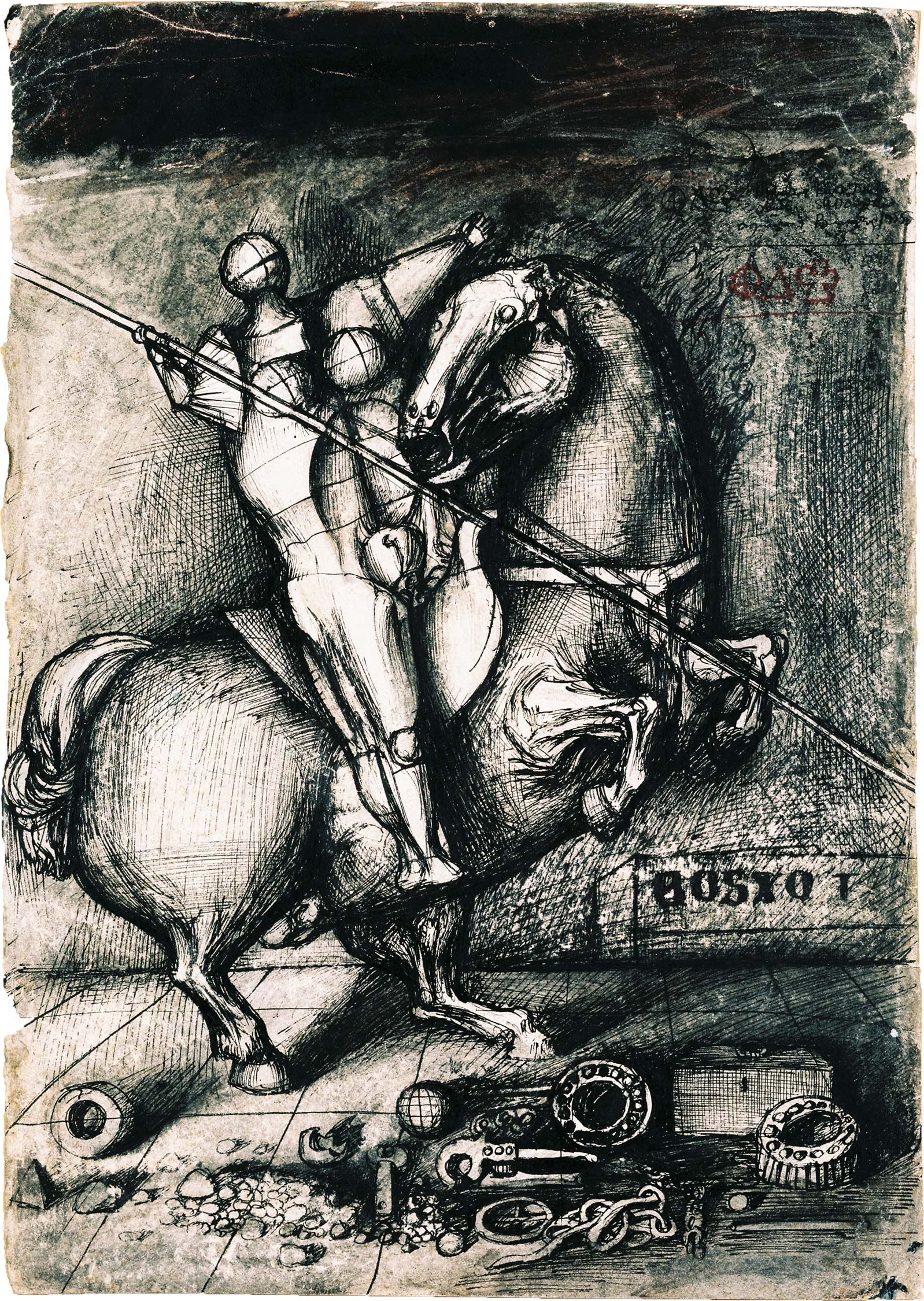 Dado's drawing: Medieval Knight, 1955