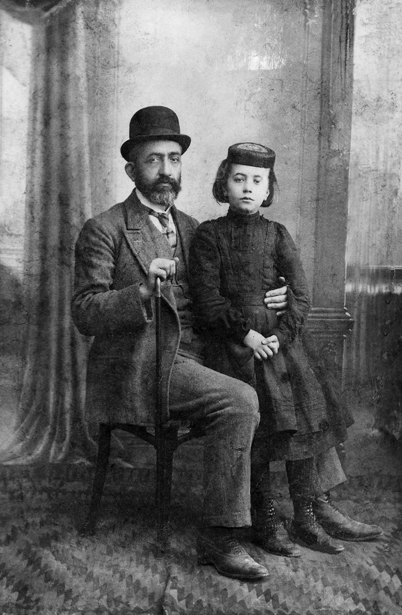 Photographs of Dado's grandfather and mother