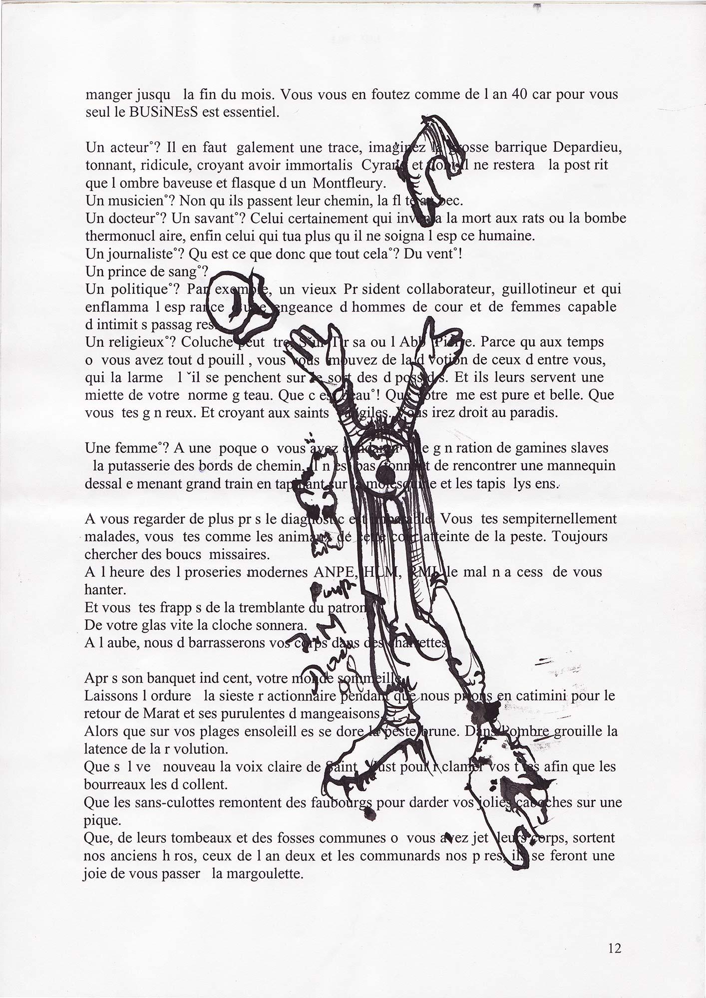 Jann-Marc Rouillan's manuscript - Page 12