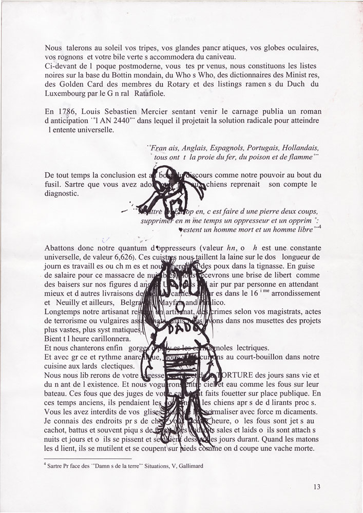 Jann-Marc Rouillan's manuscript - Page 13