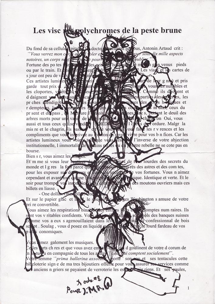 Jann-Marc Rouillan's manuscript - Page 1