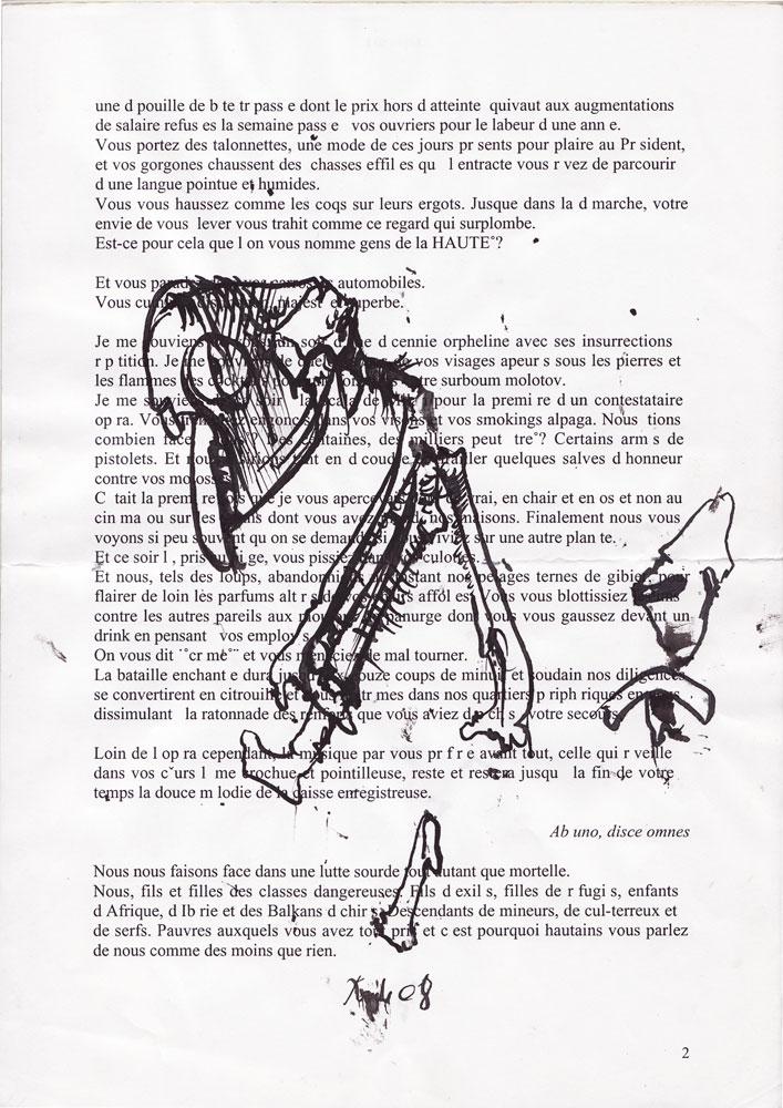 Jann-Marc Rouillan's manuscript - Page 2