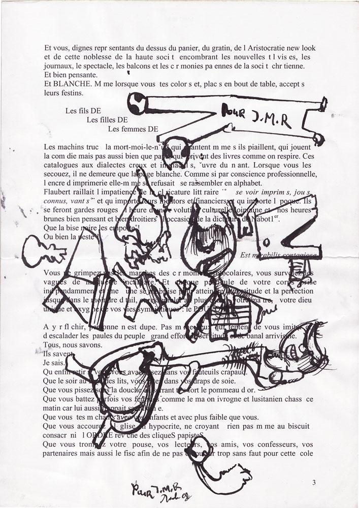 Jann-Marc Rouillan's manuscript - Page 3
