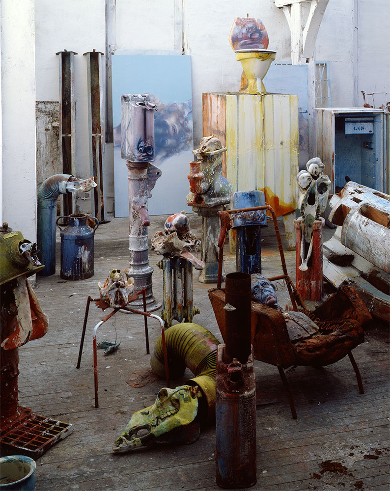 Dado: Sculpture in the studio at Hérouval in 1990