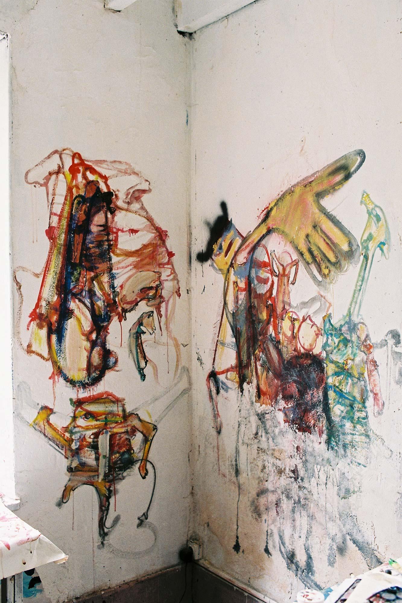 Dado: peintures murales d'Hérouval – Ceramics workshop – East wall