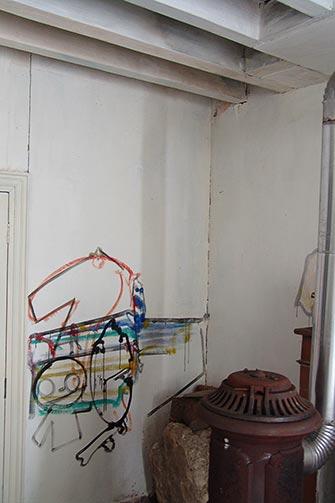 Sjeverni zid ateljea od keramike u Eruvalu