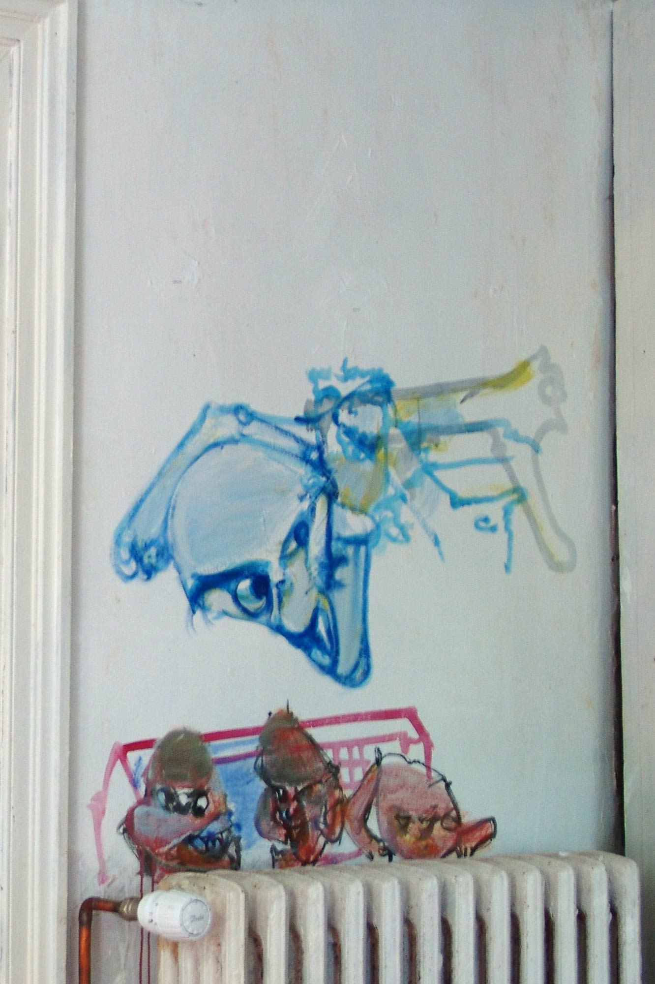 Ceramics workshop – West wall – Murals at Hérouval