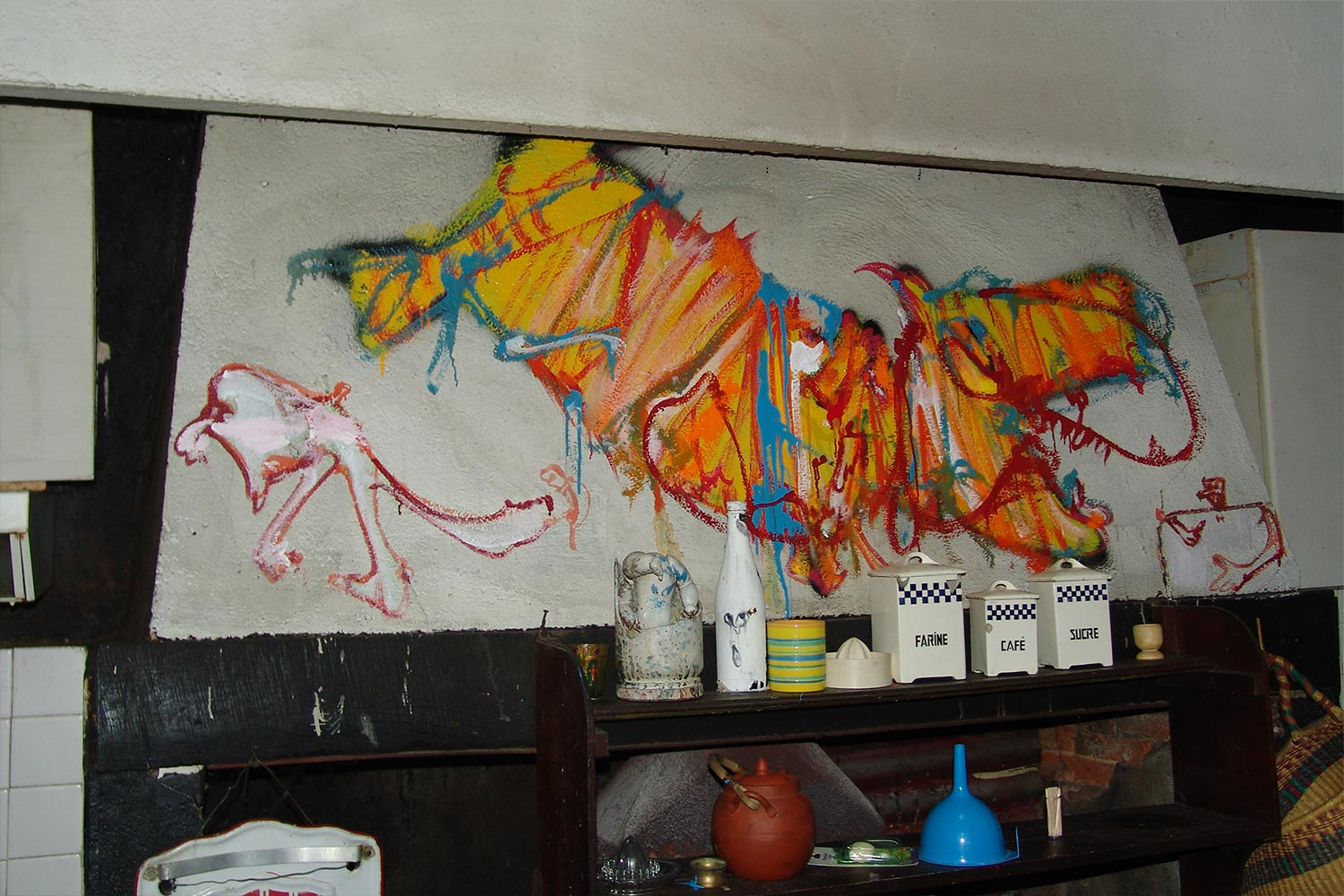 Kitchen – North wall – Murals at Hérouval