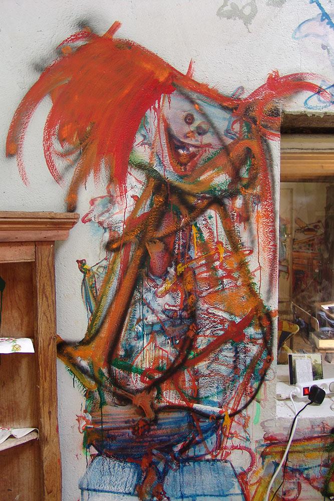 Dado: Zidno slikarstvo Eruvala – Kuhinja – Južni zid
