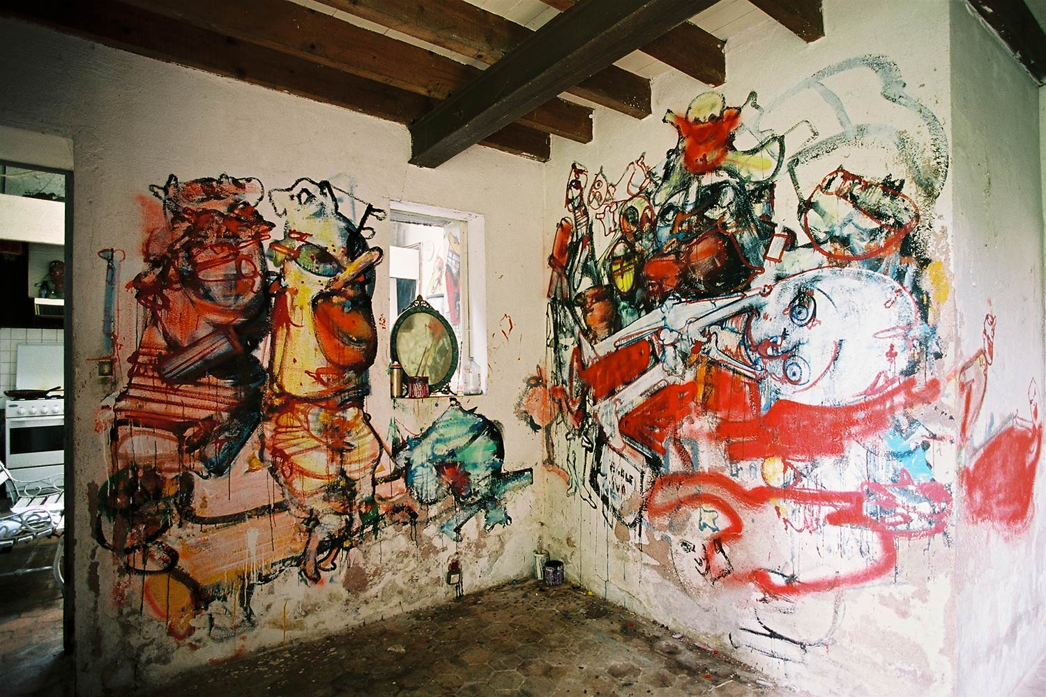 Loita's room – East wall – Murals at Hérouval