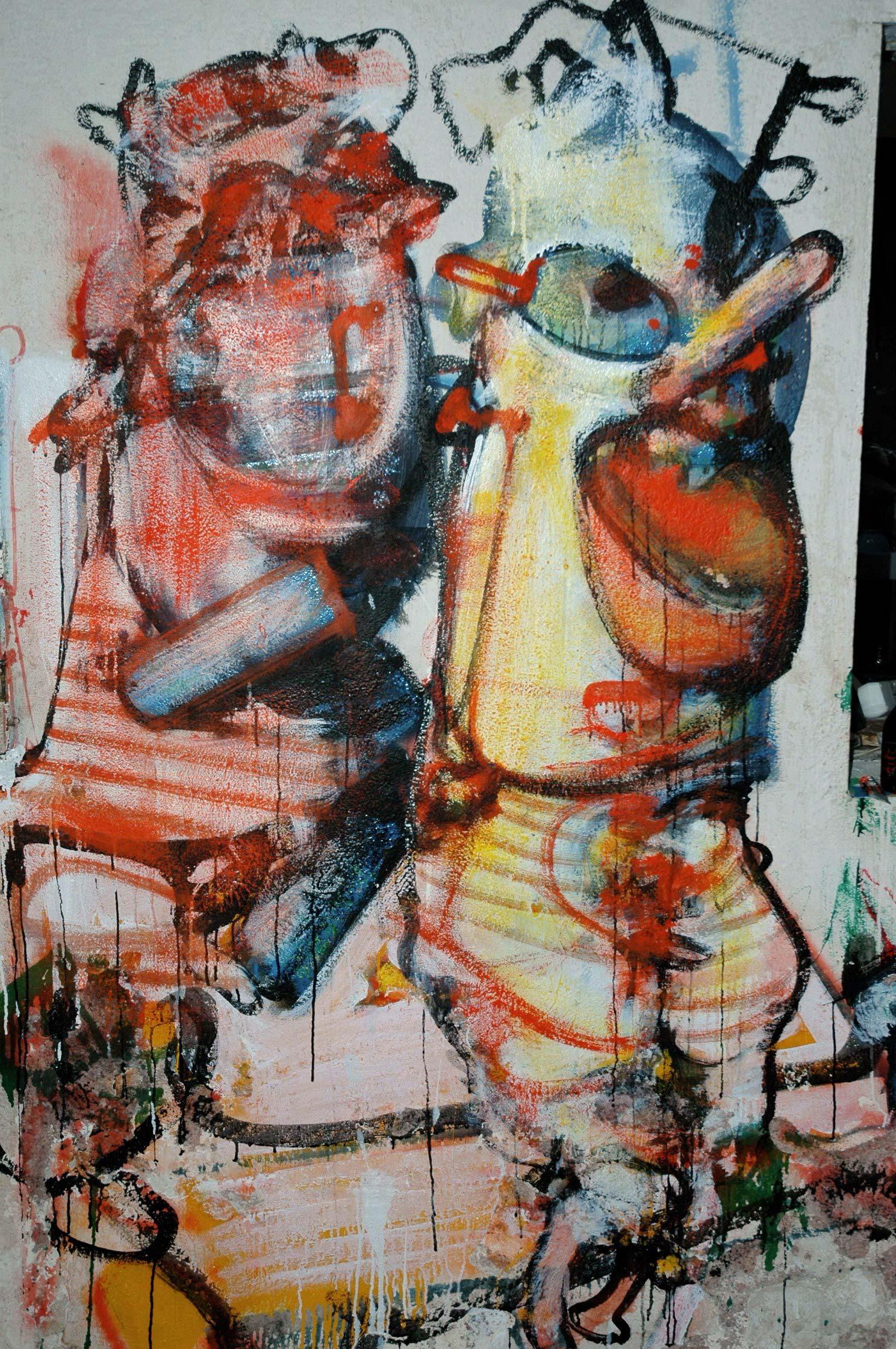 Loita's room – North wall – Murals at Hérouval