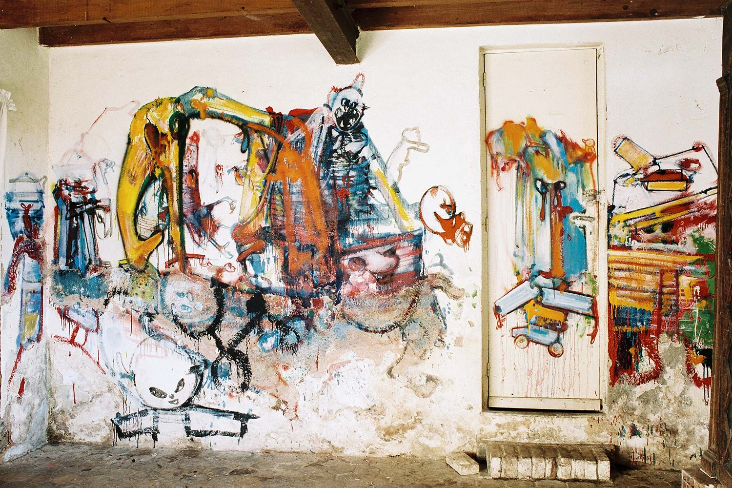 Loita's room – South wall – Murals at Hérouval