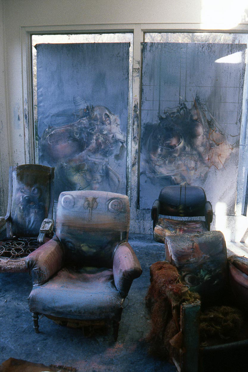 Dado's studio in 1987