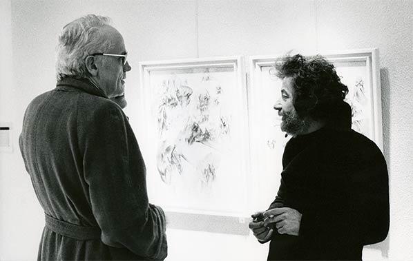 Dado (Miodrag Djuric) et Alain Jouffroy
