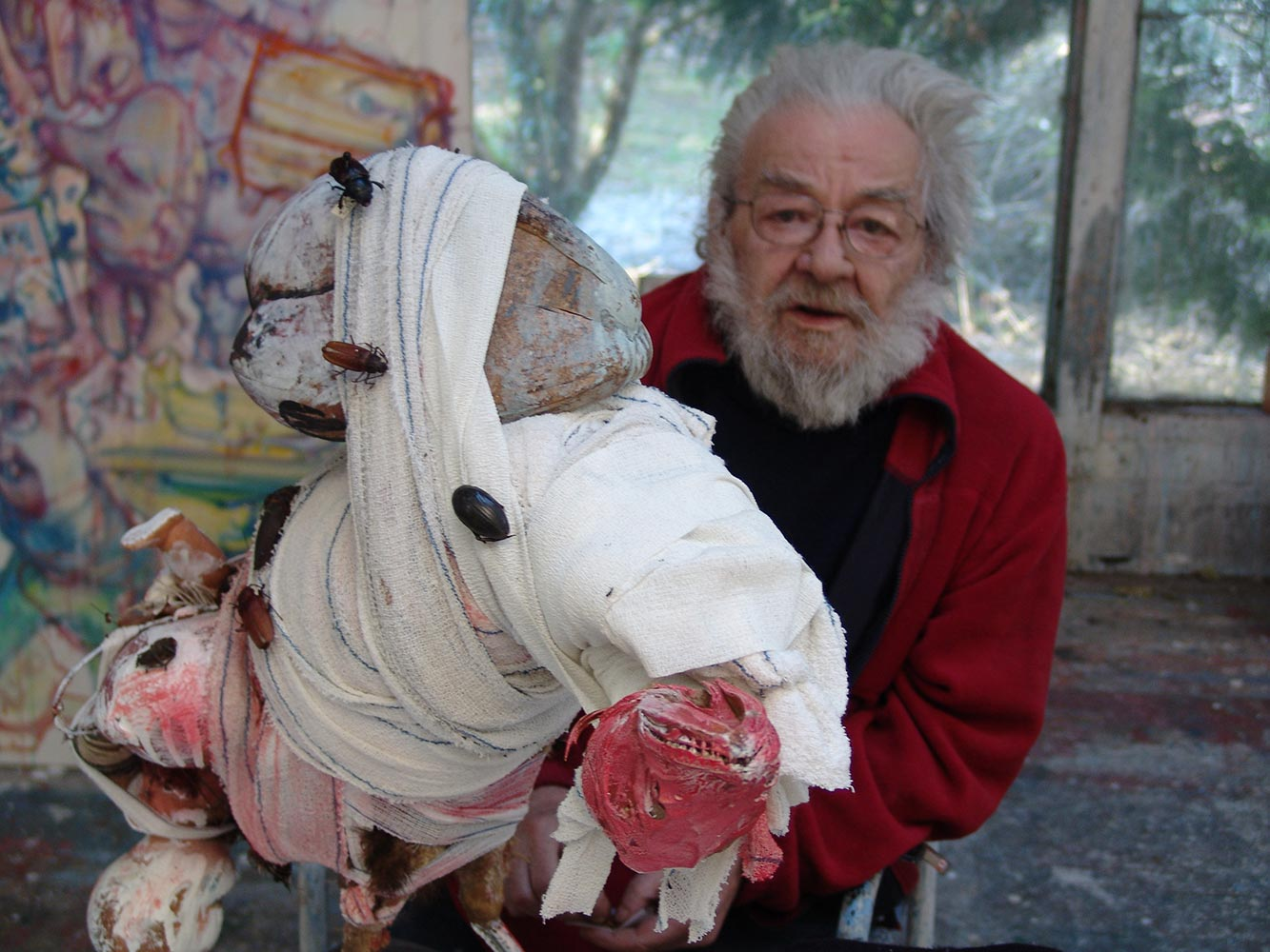 Dado at his studio in March 2009